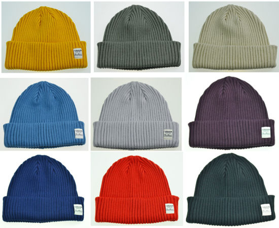 BSCI Promotional Adults Plain Beanie Knitted Hat