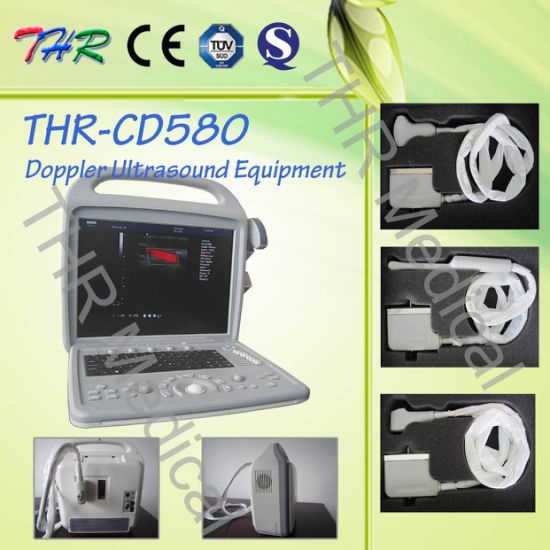 Thr-CD580 Portable 3D Color Doppler Ultrasound Scanner pictures & photos