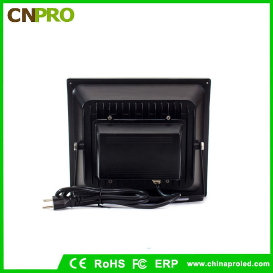 Black Housing 50W LED Floodlight with Plug pictures & photos
