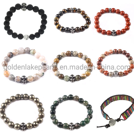 Cheaper Price Natural Gemstone Beads Lapis Lazuli Jasper Pyrite Loose Beads Bracelet pictures & photos