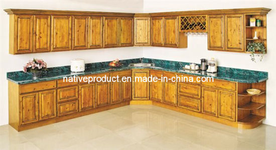 American Style Knotty Kitchen Cabinets