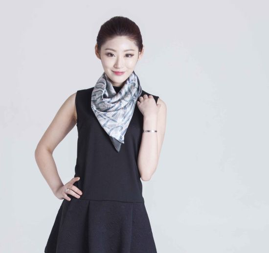 2017 New North Korea Style 100% Silk Women Scarf