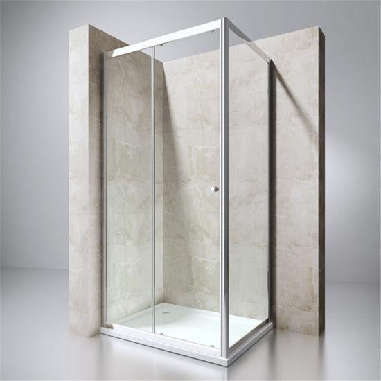 Completely Framed Rectangular Sliding Shower Enclosure with Asnzs2208ce Approved