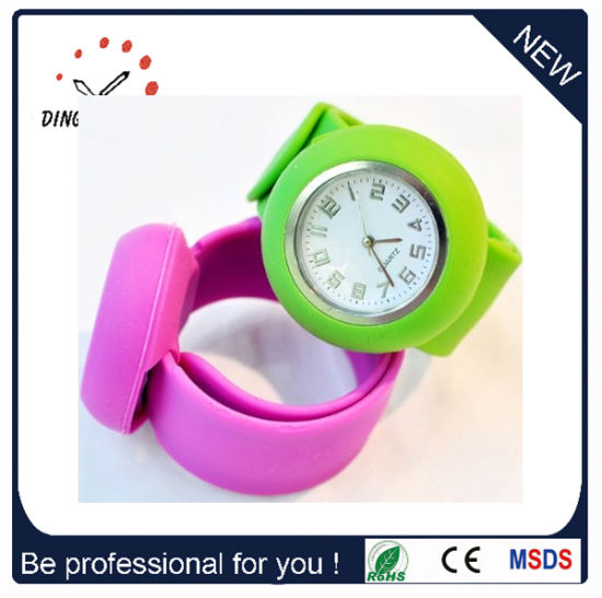 Quartz Silicone Slap Watch for Promotion (DC-708) pictures & photos