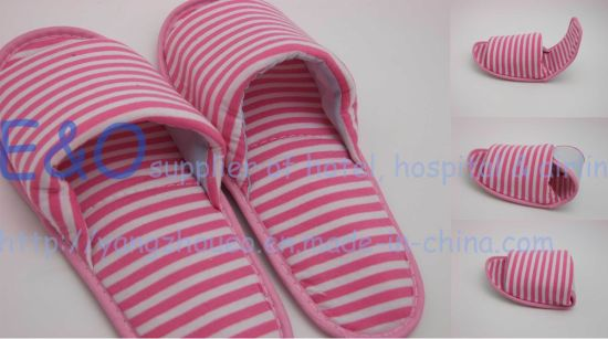 Azo Free Travel Foldable Lady Footwears Hotel Slippers