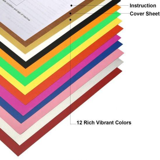 12 Sheets Heat Transfer Vinyl for T-Shirts 12x10 Iron On Vinyl HTV Bundle