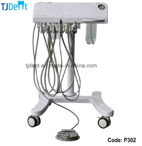 Portable Small Size Save Space Dental Unit with Scaler Curing Light (P302)