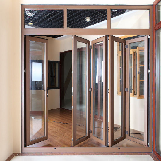 China High Quality Double Glazing Aluminium Bifold Door / Double ...