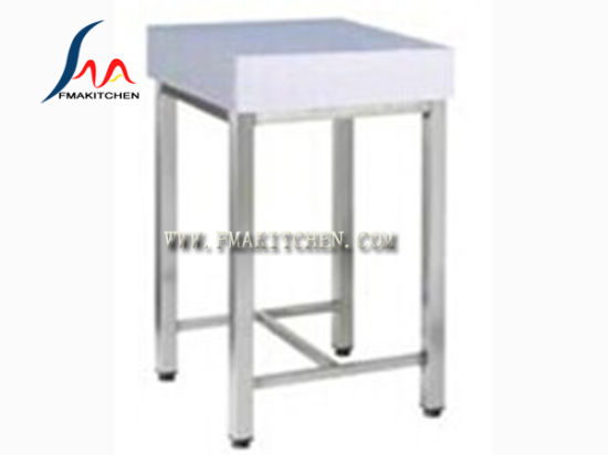 Chopping Block Table/ Polyethylene Cutting Board / Customized Stainless  Steel Table With PC/PE Block/Chopping Board Rack