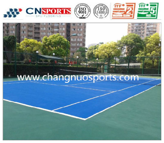 Anti-Skid Outdoor Tennis Courts, Rubber Sports Flooring, Rubber Mat pictures & photos