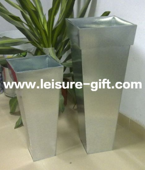 China Fo-9701 Tapered Square Galvanized Zinc Planter - China Flower on square aluminum planters, square iron planters, square stone planters, square brass planters, square outdoor planters, square tin planters, square terracotta planters, square fiberglass planters, square lead planters, square plastic planters, square white planters, square garden planters,