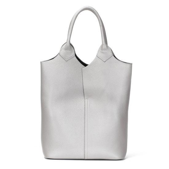 New Design Three Colors Soft Genuine Leather Ladies Tote Lash Handbag