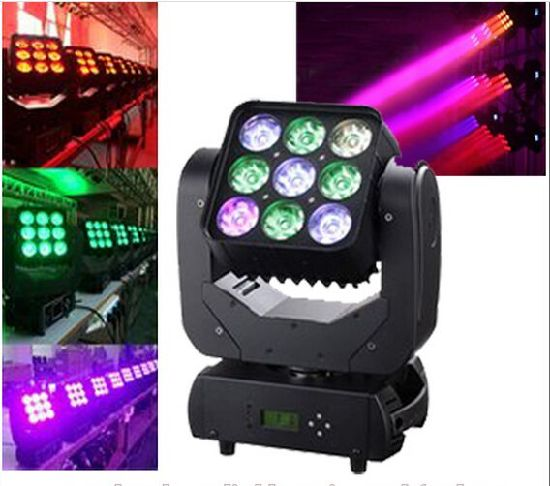 Infinite Rotating 9PCS 10W Shake Matrix Pixel Moving Head Beam for Stage, Concert Show pictures & photos