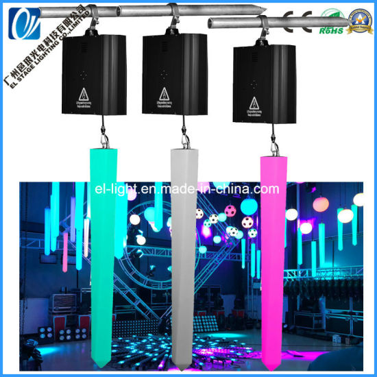 DMX512 Control Winches Lift Tube LED Kinetic Light for Stage Lighting Use