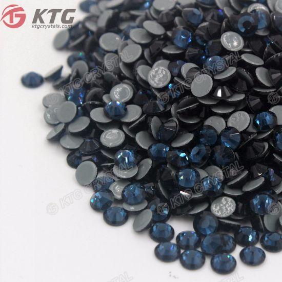 e64a41c6f3 Wholeale Aaaaa Quality Montana 5mm Heat Crystal Flatback Glass Strass Iron  on Hot Fix Rhinestones