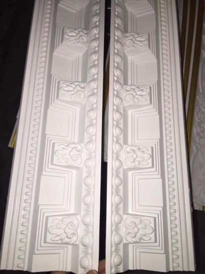 81160# Decorative White Primed PU Ceiling Cornice Mouldings for Sale