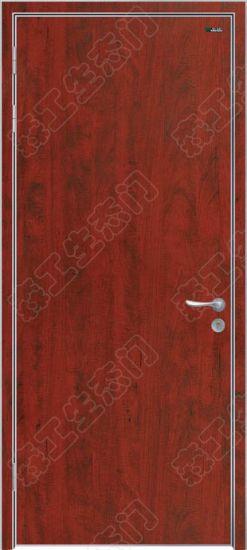 Plain Wood Bedroom Red Door