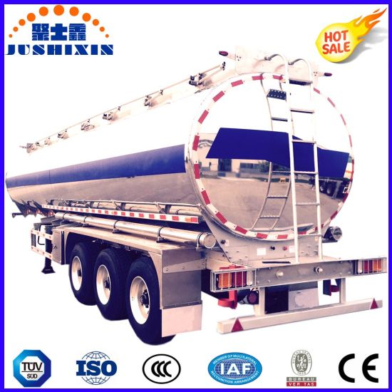 3 BPW Axle 52cbm Aluminium Alloy Diesel/Petrol/Crude Oil/Gasline/Liquid Chemical Bulk Cargo Tanker Truck Tank Semi Trailer pictures & photos
