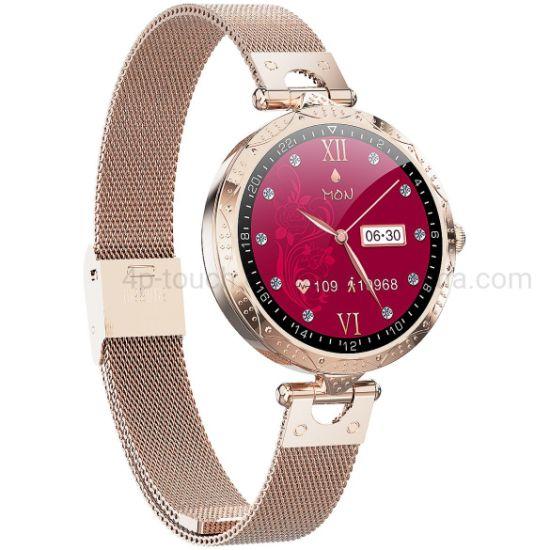 Quality IP68 Waterproof Fashion Slim Music Control Heart Rate SpO2 Monitoring Smart Women Bracelet Ak22