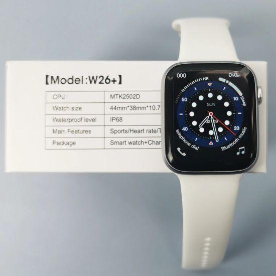 Hot Sale Watches W26+ Plus New 1.75inch HD IPS Full Screen Bt Call Waterproof Gift Sport Smart Bracelet Watch