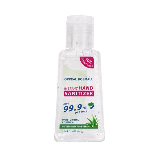 Refreshing 70% 75% Alcohol Waterless Antibacterial Gelantiseptic Hand Sanitizer-30ml