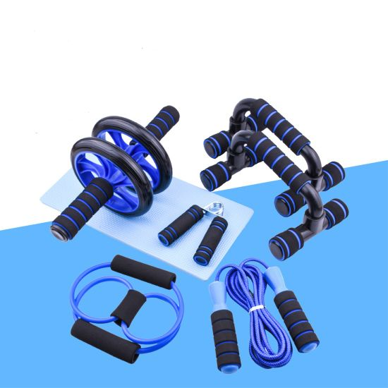 Abdominal Wheel 7 Pieces Set Indoor Sports Products Push-up Bars Fitness Equipment