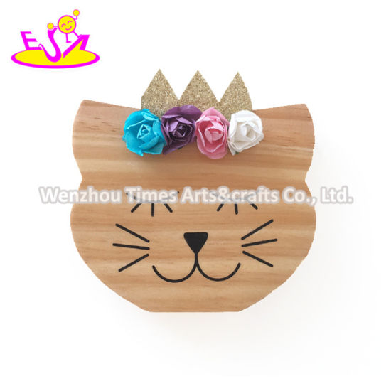 Top Sale Bear Shape Wooden Ornament Crafts for Babies W02A363