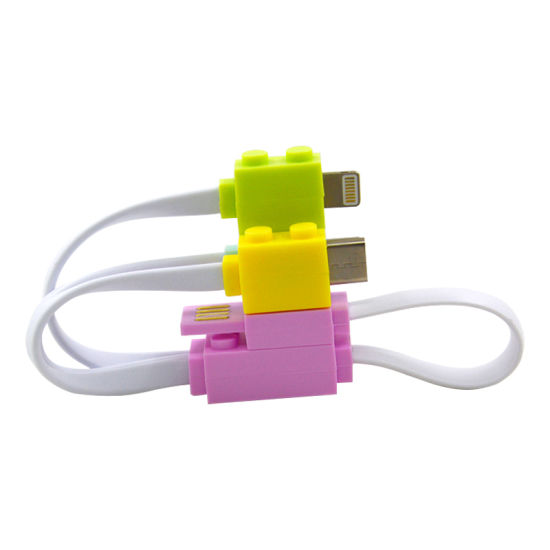 Legos Style USB Charging Cable for Promotion