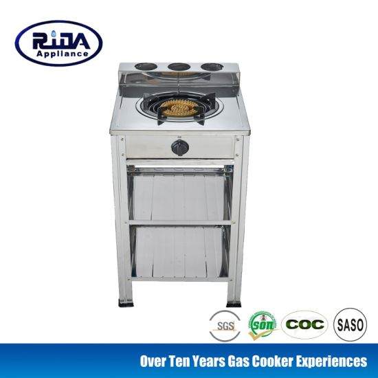 China Factory Cheap OEM Stainless steel Stand 2 Burner Gas Stove Stand Gas Cooker