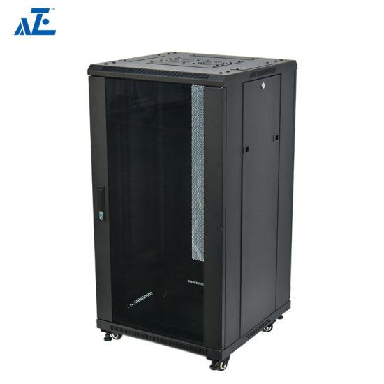 18U Premium Quality Network Server Black Cabinet W//Locking Glass Door US New