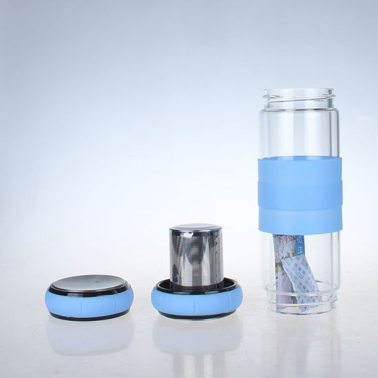 Hot New Products 2019 500ml 550ml Custom Glass Water Bottles No Minimum with Tea Infuser