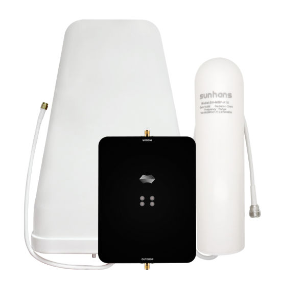 2g 3G 4G Lte Triband GSM Cell Phone Range Extender Repeater Cellphone Amplifying Mobile Signal Booster with Antenna for Home