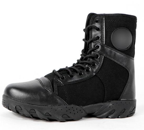 China Low Price Military Black Boot