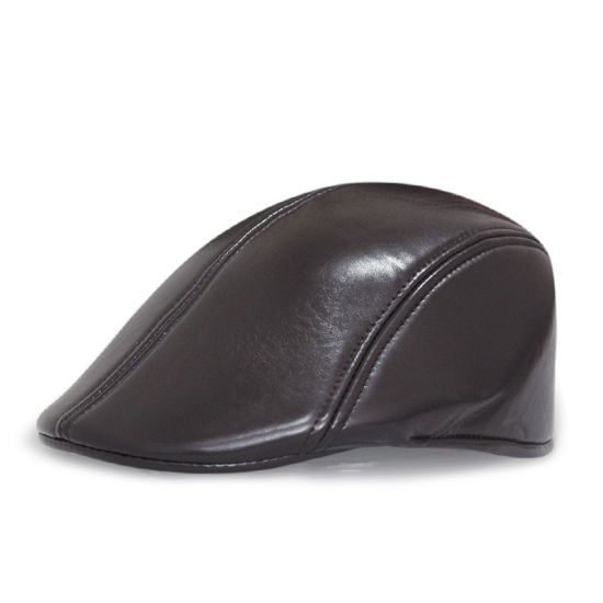 Factory Custom Fashion Popular Leather Summer Classical Painter IVY Hats Mens Beret Duckbill Caps with Peak pictures & photos
