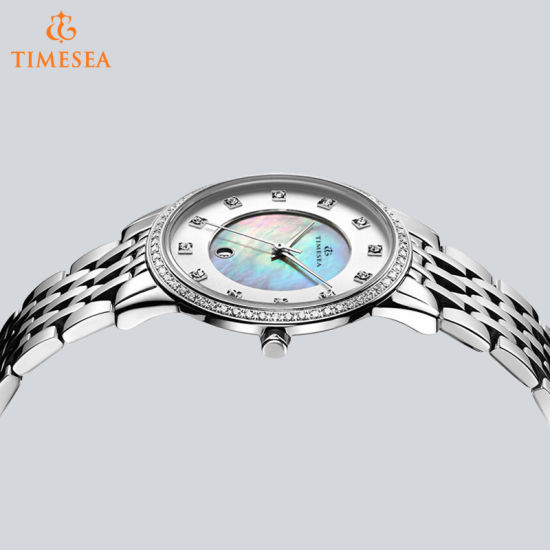 Brand Silver Jewelry Clasp Stainless Steel Ladies Watch 71043 pictures & photos