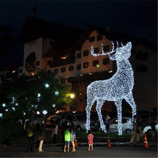 LED Deer Motif Light with Warm White Light Sting for Outdoor Decoration