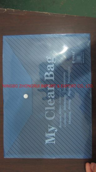 Mc PP Clear Bag with Button