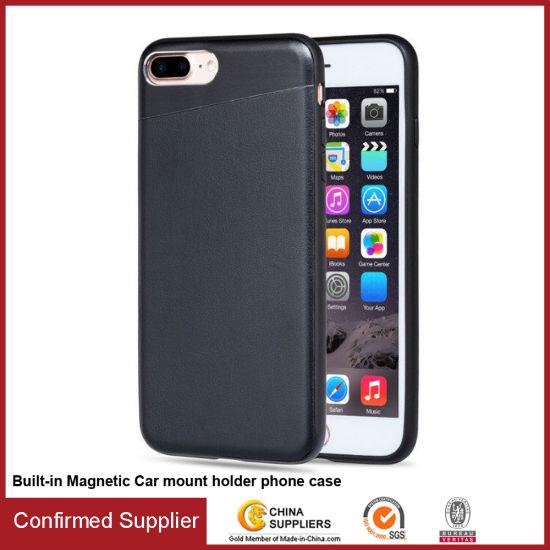 buy popular 58bf9 4ede3 China TPU+Hiddern Magnetic Car Holder Soft Phone Case for iPhone 7 ...