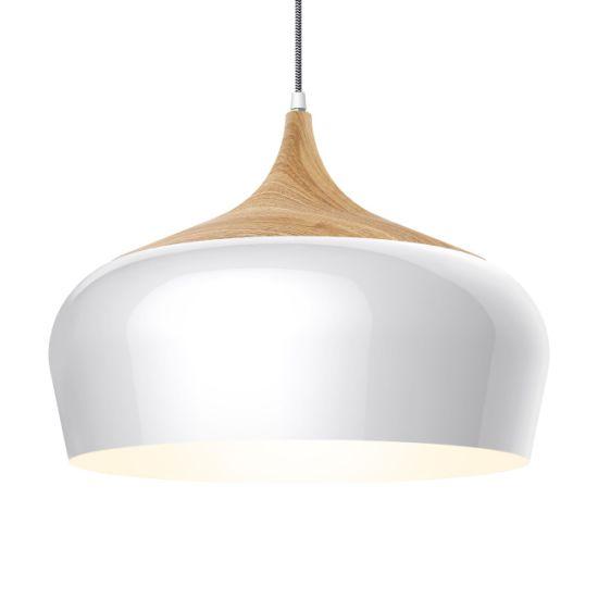 Modern Style Wood Pattern Ceiling Lights LED Pendant Lighting