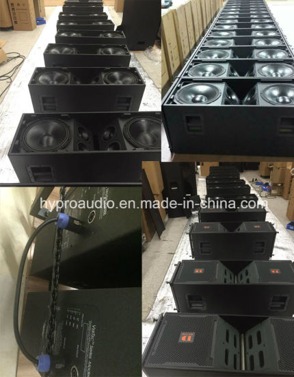 "Vt4889 Dual 15"" Three Way Line Array Speaker pictures & photos"