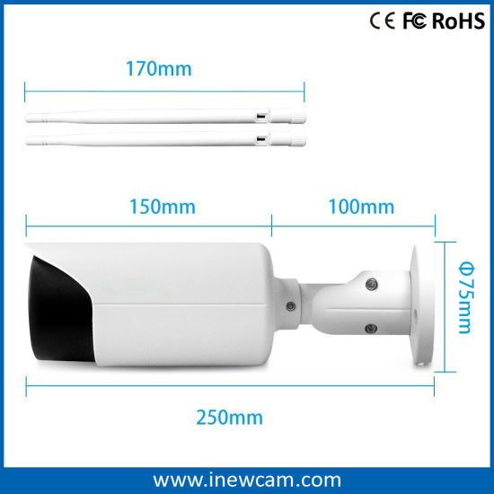 4X Optical Zoom Wireless 4MP IP Bullet Camera for Outdoor pictures & photos