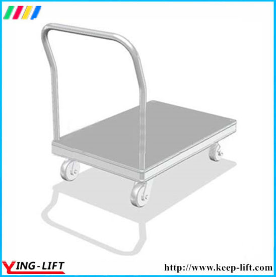 Aluminum Hand Trolley with Folding Handle Platform Hand Truck pictures & photos