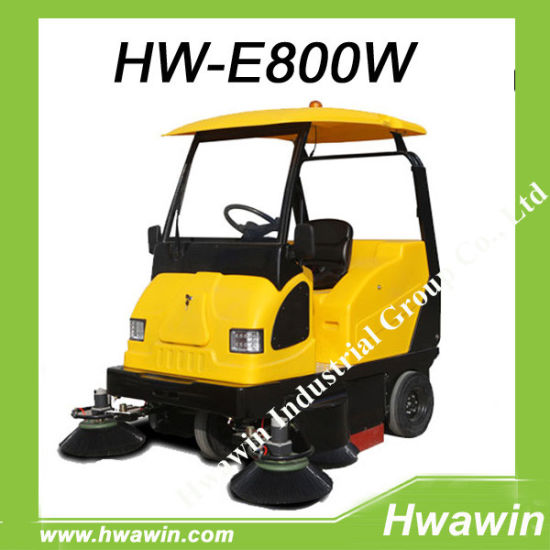 Electric Road Floor Battery Powered Sweeper Machine