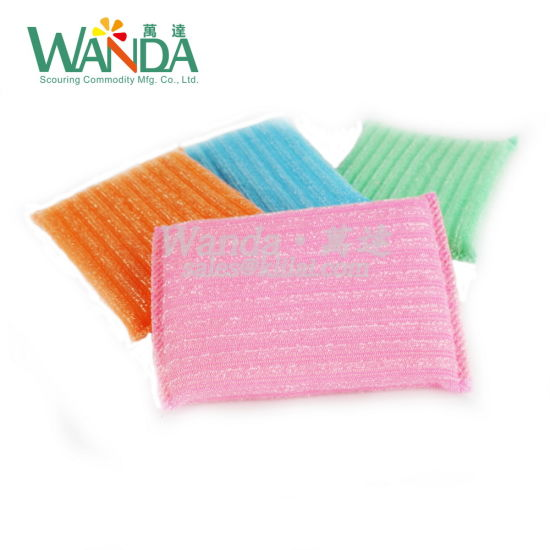 High Quality Household Cleaning Sponge Scourer Mesh Sponge for Kitchen pictures & photos
