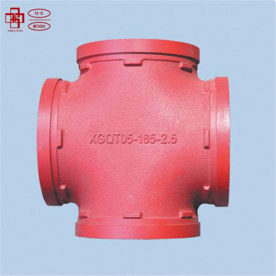 Ductile Iiron Grooved Pipe Fittings Cross From China with UL FM