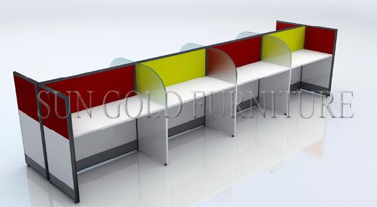 Modern Office Staff Computer Desk Cheap Call Center Cubicles (SZ WS694)