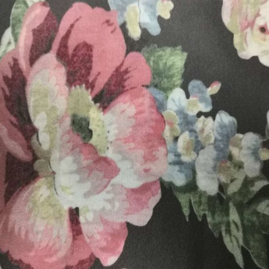 16mm Floral Print Silk Satin Fabric in China