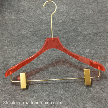 Factory Wholesale High-Grade Acrylic Hangers Clothing Store Children Clothes PMMA Hangers
