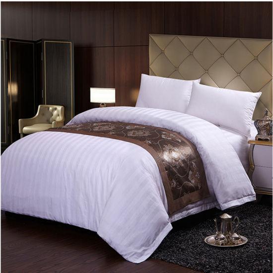 Hospital Bed Linen Cotton Mix Stripe Bedding Sets Cheap Bedsheets