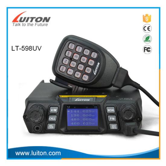 Dual Band Mobile Radio Lt-598UV Car Radio 200channels 75W